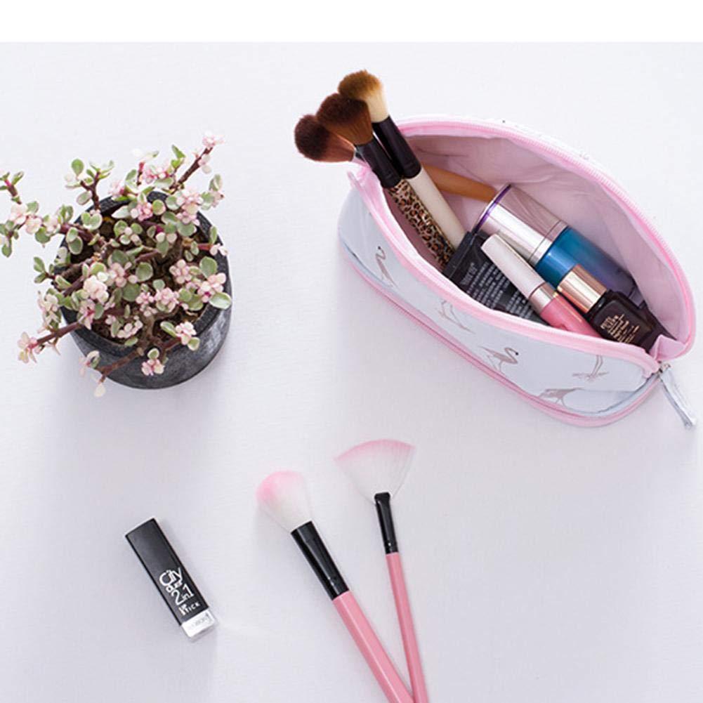 Yves25Tate Bolsa de Almacenamiento de flamencos Bolsa de cosméticos de Gran Capacidad de cosméticos de Doble Capa de Viaje portátil: Amazon.es: Hogar