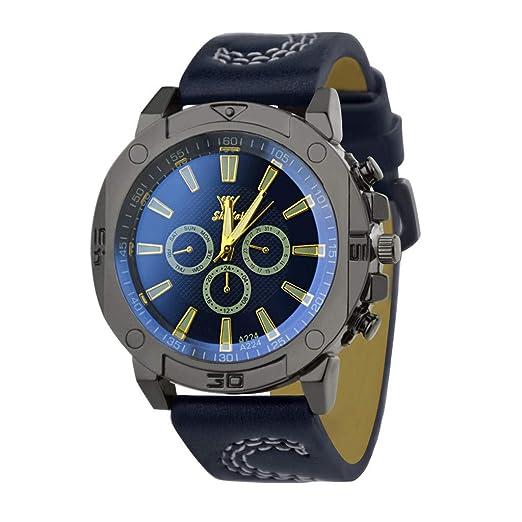 Reloj Deportivo Mujer Casual Correa De Cuero Cuarzo Analógico Relojes Personalidad Lujo Unisex Reloj: Amazon.es: Relojes