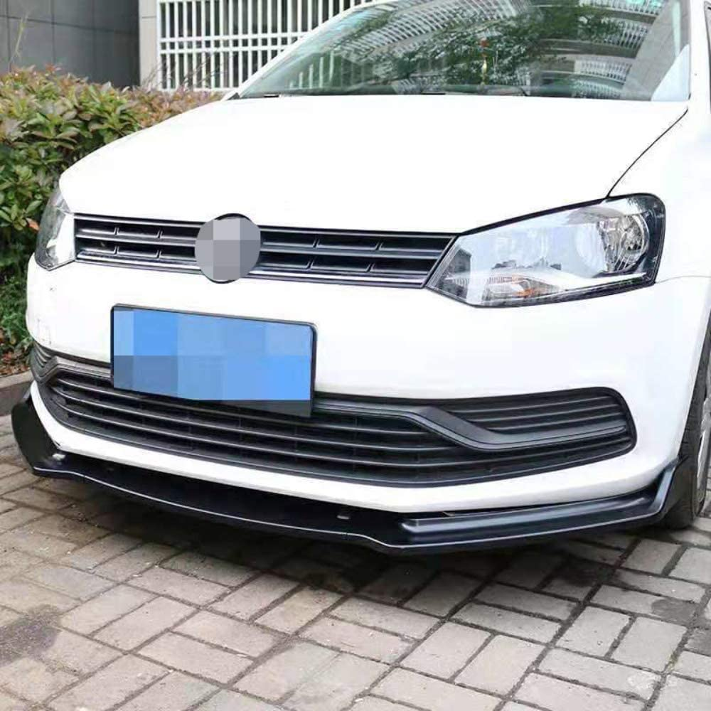 LDXCT ABS Car Front Bumper Spoiler Tuning Front Lip Splitter Diffuser Air Dams Chin Trim Guard Body Kit For Volkswagen VW POLO 2014-2018