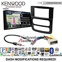 Volunteer Audio Kenwood DNX874S Double Din Radio Install Kit with GPS Navigation Apple CarPlay Android Auto Fits 2002-2005 Ram