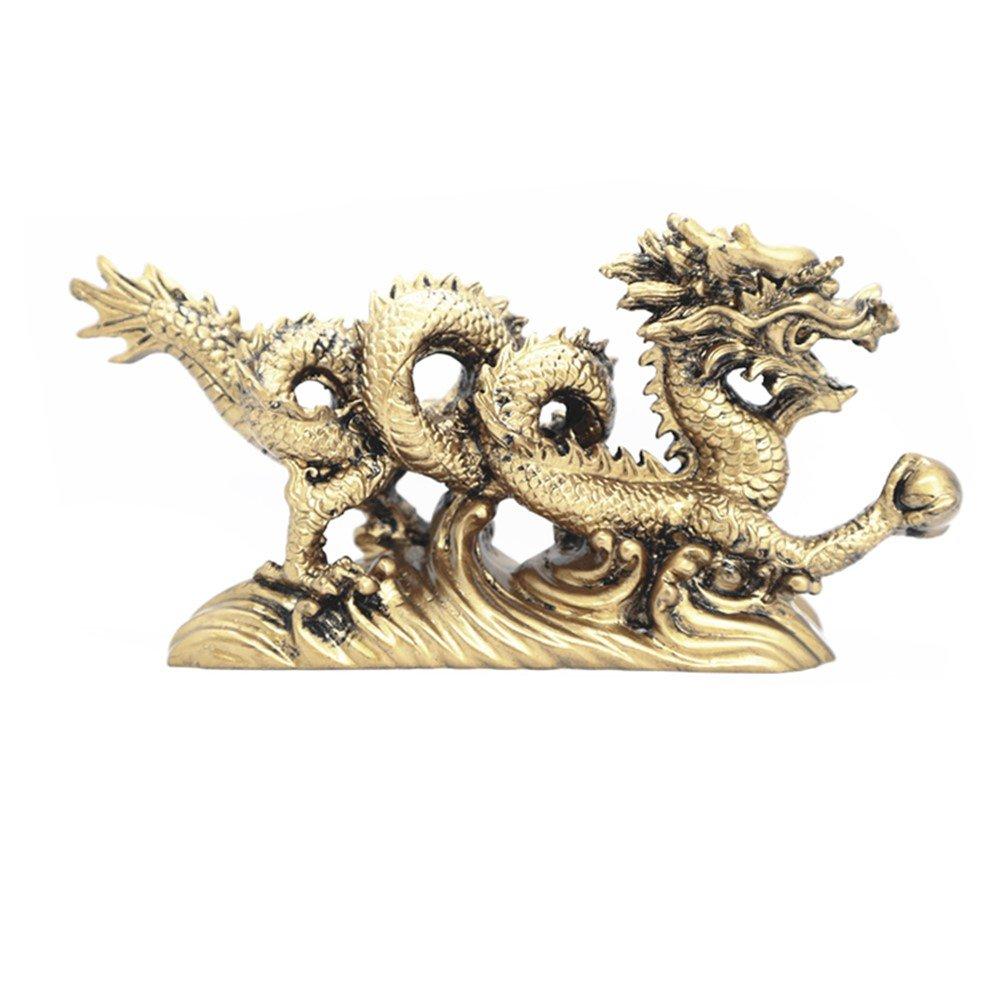 Muzuri Figura De Dragón Chino Feng Shui Símbolo De La Suerte Y