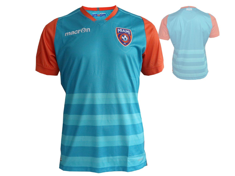 Macron Miami FC Home Fútbol Jersey M17 Jugador de fútbol Fan Camiseta blaugrün Naranja fussba llshirt NASL: Amazon.es: Deportes y aire libre