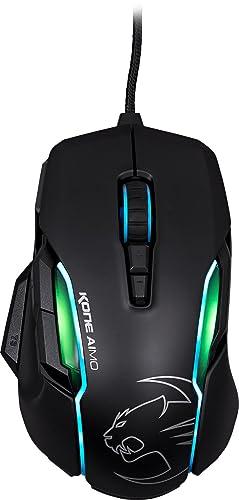 ROCCAT Kone AIMO Gaming Mouse – high precision, optical Owl-Eye Sensor (100 to 12.000 DPI), RGB AIMO LED illumination, 23 programmable keys, designed in Germany, USB, black