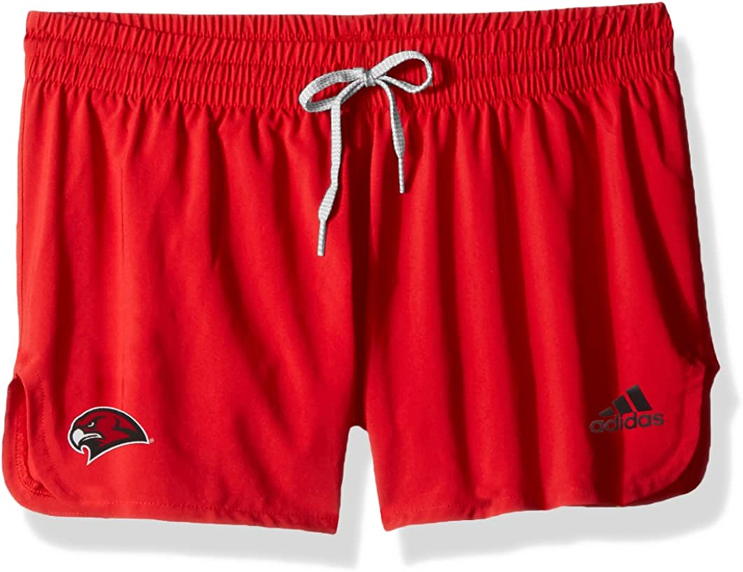 adidas NCAA Miami of Ohio Redhawks Adult Women 2 Logo Lined Woven Shorts Power Red Large