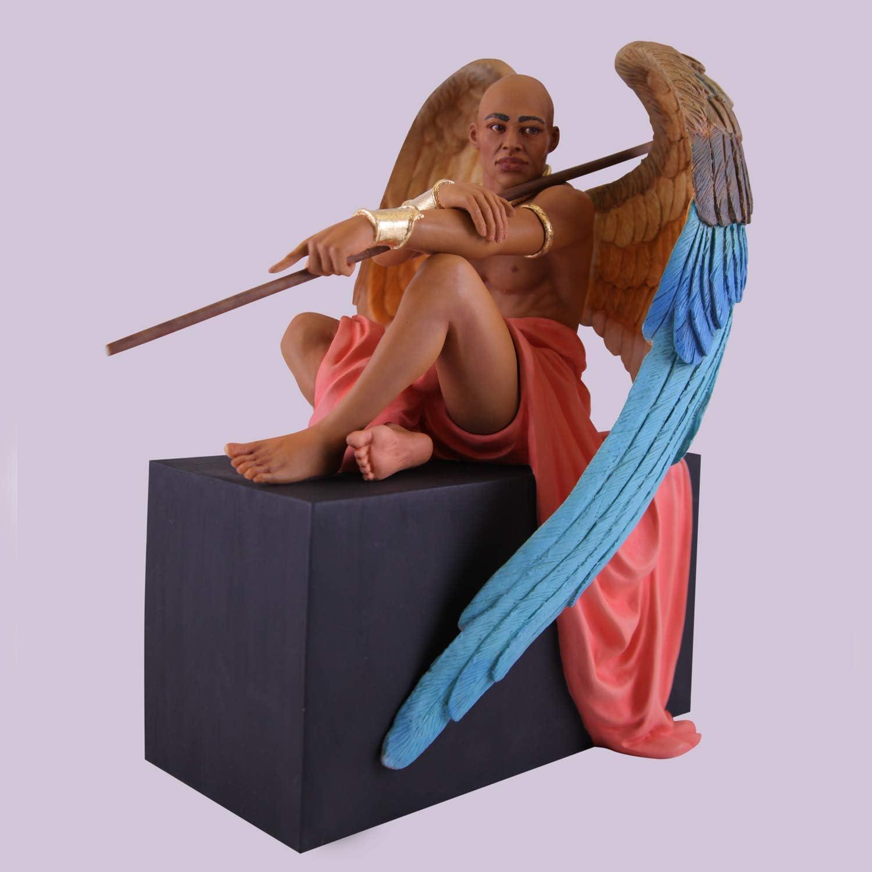 "African American Expressions - Angel at Rest Figurine by Thomas Blackshear (6.75"" x 11.5"" x 9"") FBCF-03"