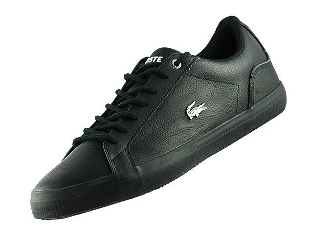 Lacoste Hombre Lerond 317 4 CAM Zapatillas de cuero, Negro, 40.5: Amazon.es: Ropa y accesorios