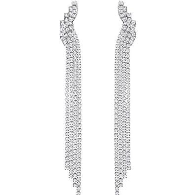 8a5a833560e7 Swarovski Women Stainless Steel Dangle   Drop Earrings 5409450  Amazon.co.uk   Jewellery