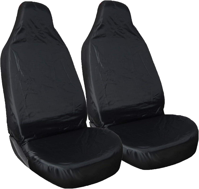 Shield Autocare /© 1+1HDSCBLK Heavy Duty Black Waterproof Front Car Seat Covers 1+1/_F004
