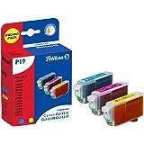 Pelikan P19  Pack de 3 Cartouches compatibles pour Canon CLI 521 3x9ml Cyan Magenta Jaune