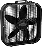 "Lasko B20401 Decor Box Fan, 20"", Black"