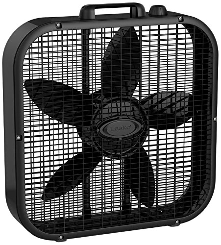 Lasko B20401 Decor Box Fan, 20', Black