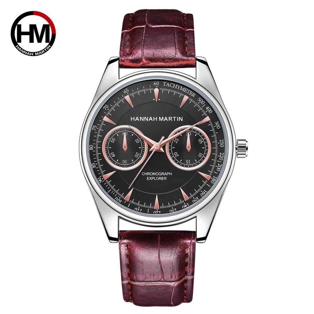 VANSOON Men's Watch Casual Fashion Luxury Men Date Leather Stainless Steel Sport Quartz Wrist Watch Business Waterproof Bracelet Watch Clearance