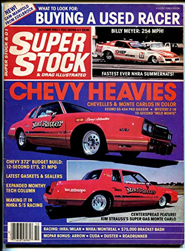 Super Stock & Drag Illustrated 10/'82-buying used racer-Monte Carlo-NHRA-AHRA-VG (Monte Carlo Racer)