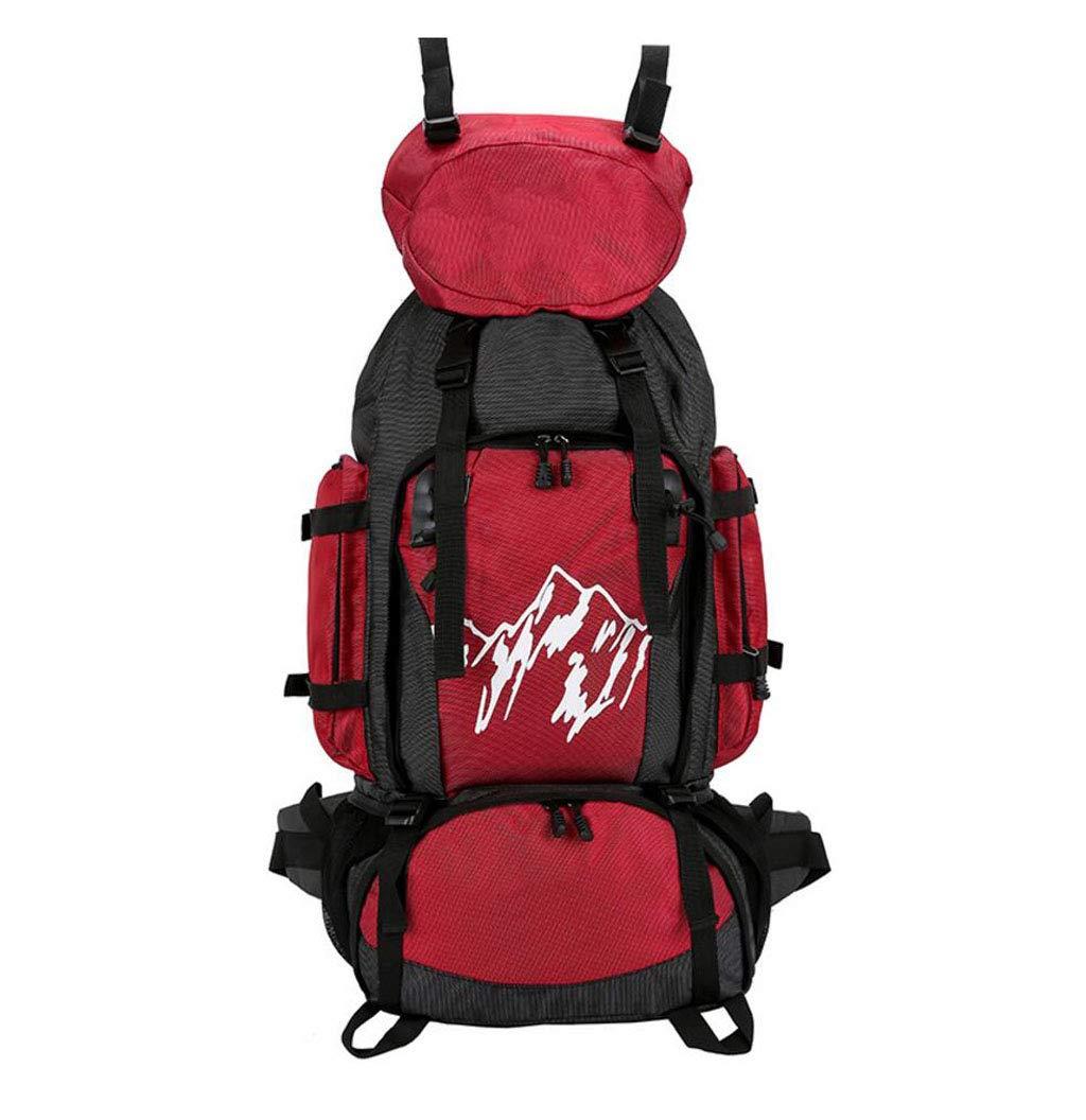 FGSJEJ バックパック 多機能ハイキングバッグ アウトドア 旅行 男女兼用 ショルダーバッグ  レッド B07GSZHYWW