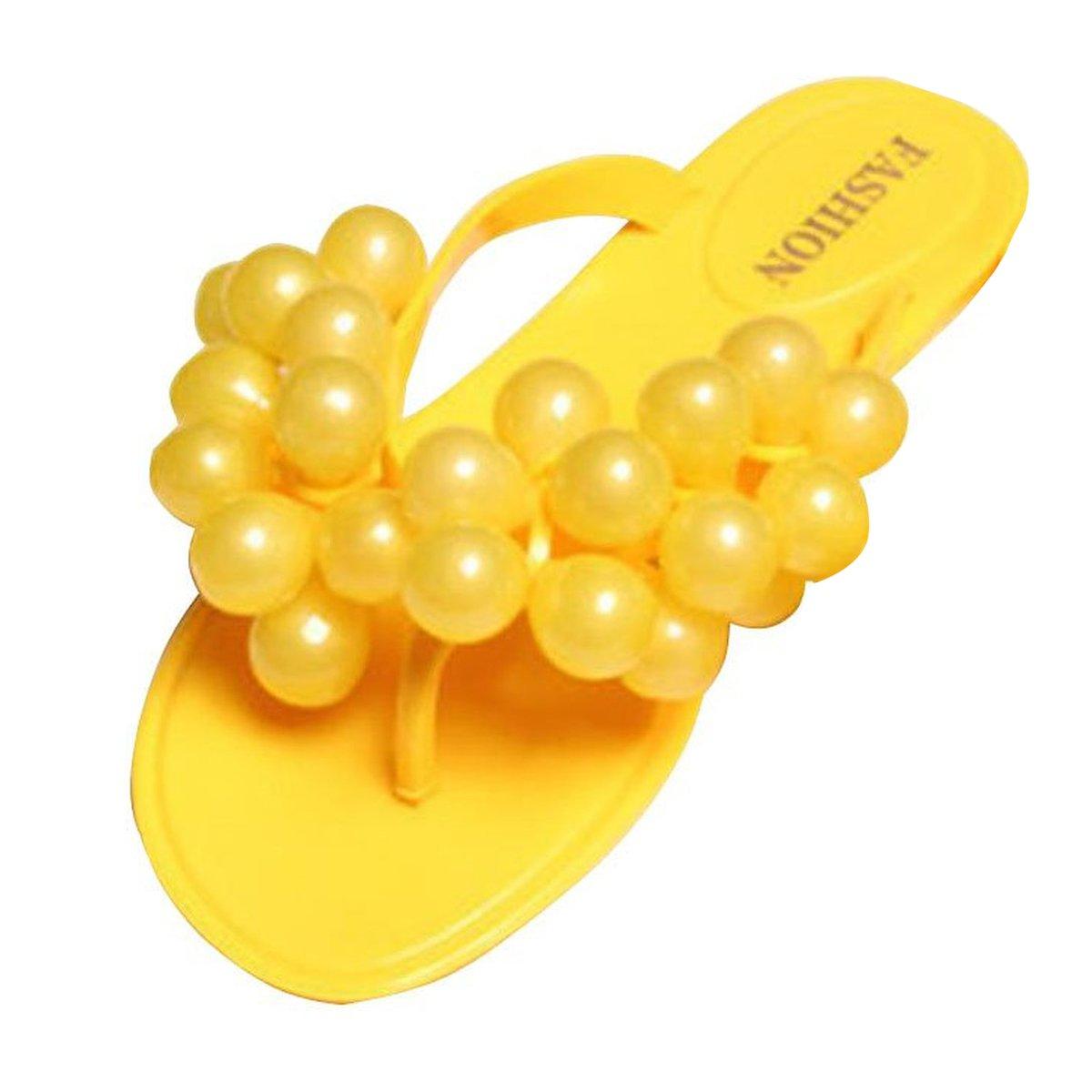 Minetom Damen Strand Pantoffeln Sexy Trauben Flip Flops Sommer Zehentrenner Outdoor Schuhe EU Größe ( Rot EU 39 ) F6A6xaGFQx