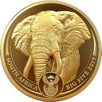 Power Coin Elephant Elefante Big Five 1 Oz Moneda Oro 50 Rand ...