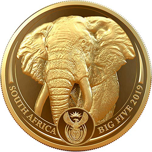 Elephant Big Five 1 Oz Gold Coin 50 Rand South Africa, used for sale  Delivered anywhere in Canada