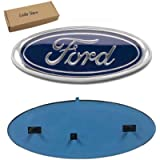2004-2014 F150 Front Grille Tailgate Emblem, Oval 9'X3.5', Dark Blue Decal Badge Nameplate Fits for Ford 04-14 F250 F350…