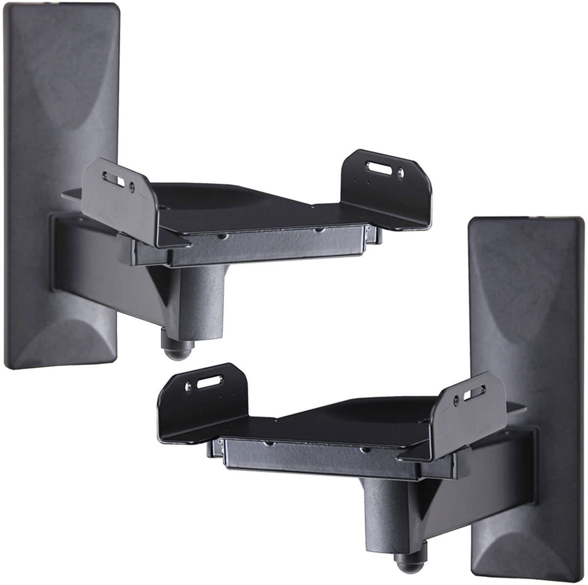 VideoSecu One Pair of Side Clamping Bookshelf Speaker Mounting Bracket