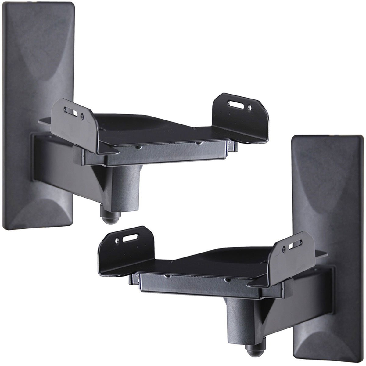 VideoSecu One Pair Of Side Clamping Bookshelf Speaker Mounting