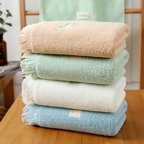 WLLLO 4 Toallas de algodón, Lavados Puros de algodón, ama de casa para Adultos