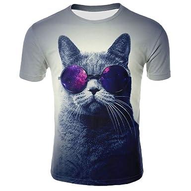 Unisex Camisetas de Manga Corta Casual Hipster Camisas Deportivas ...