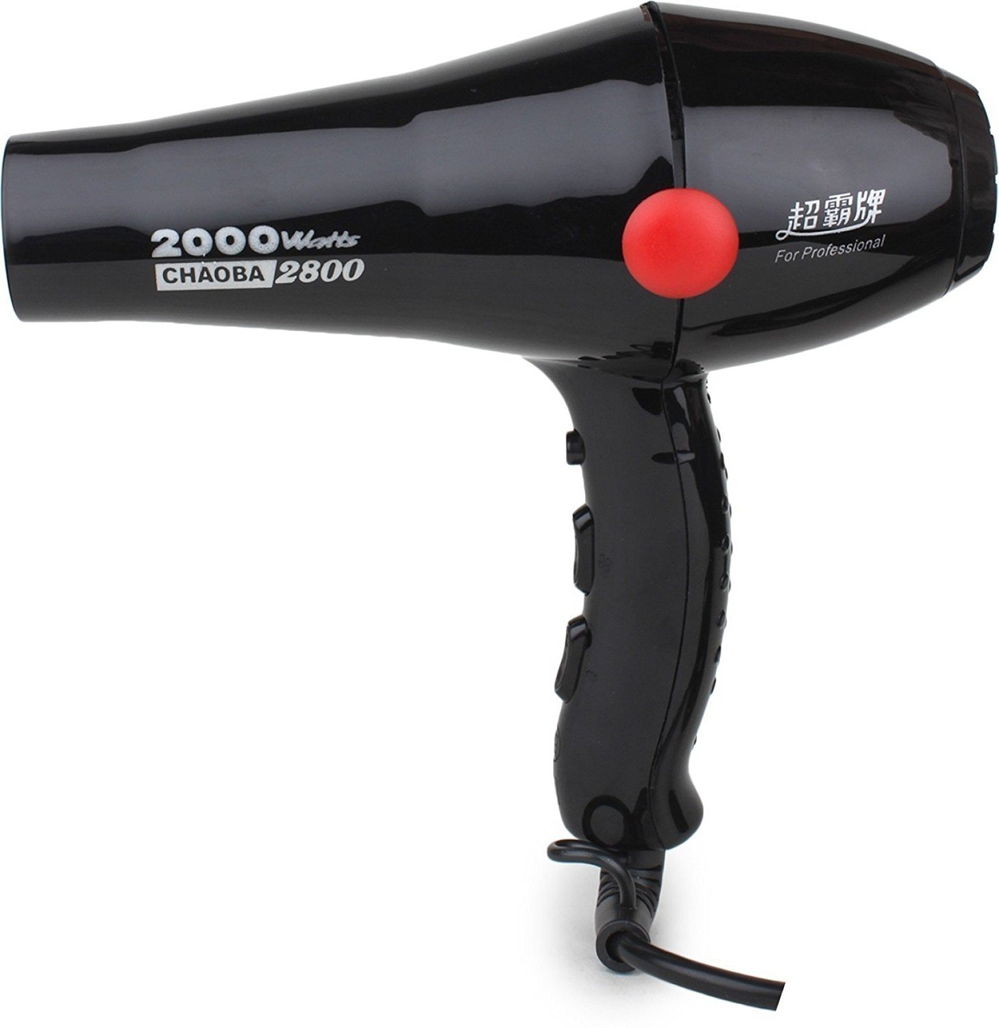 CHAOBA 2000 Watts Professional Hair Dryer (Black)
