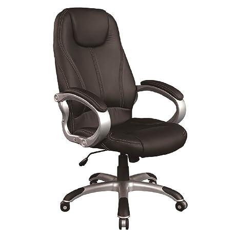 Poltrona ufficio direzionale eco pelle reclinabile regolabile nera ...
