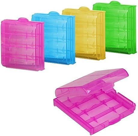 kentop 5 pieza batería caja batería caja almacenamiento Carcasa Case para AAA , AA y baterías pilas: Amazon.es: Hogar