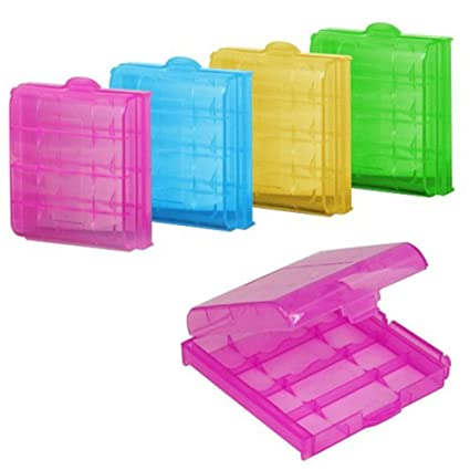 Cosanter 5 X Estuches De Batería De Plástico Caja De Almacenamiento Kit De Bateria para AA/AAA Batería