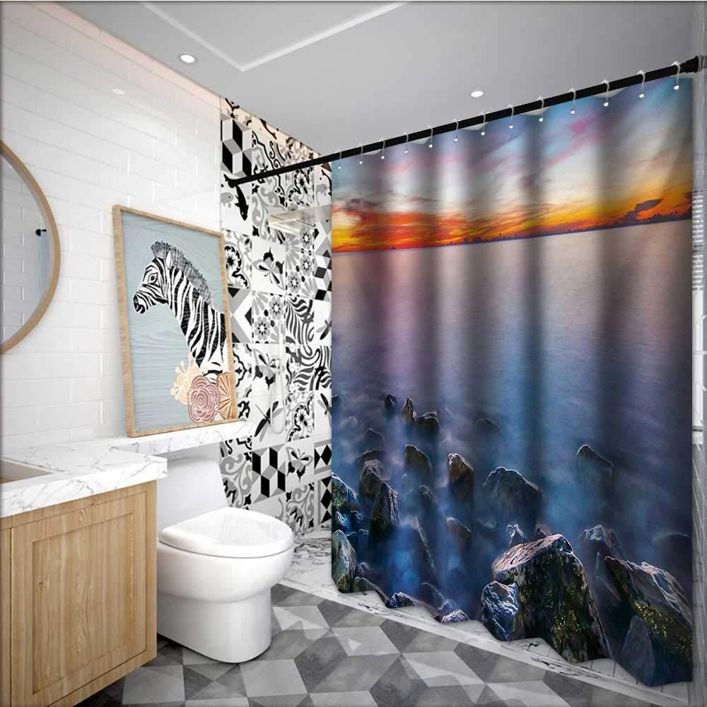 Amazon com: Beach interdesign Shower Curtain Sunrise Horizon