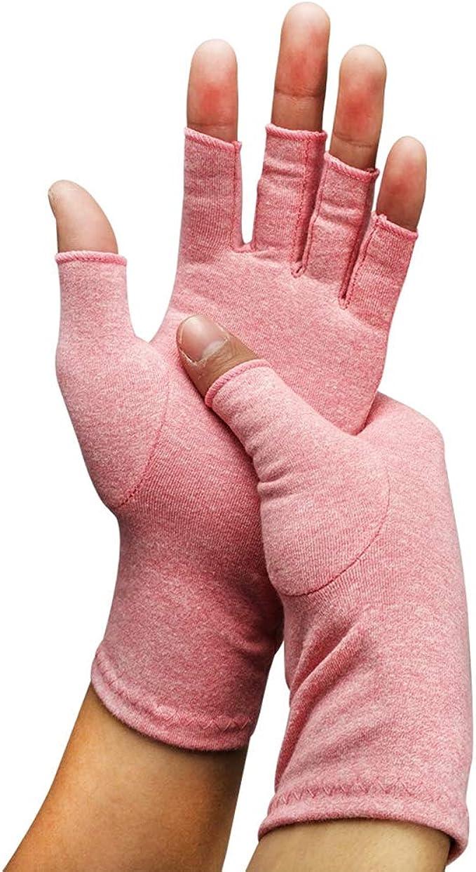 Deluxe 12/% fibra d/'argento a mano senza dita Guanti di riscaldamento Guanti malattia raynauds