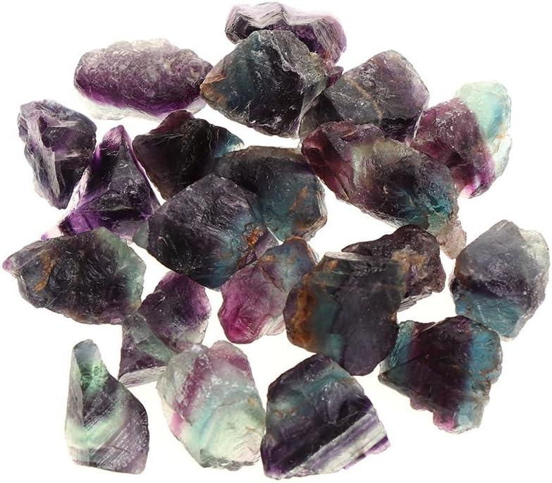 Axing La fluorita Natural Decoración Minerales Rocas de la Piedra Preciosa áspera Grava fluorita Cristales de Cuarzo Piedras curativas -2pcs