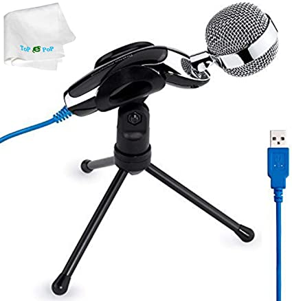 USB Desktop Wired Mic Stand Cancelling Microphone Tools for PC Computer Laptop