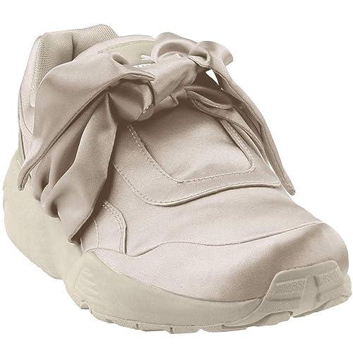 Puma Women's Bow Sneaker Ankle High Satin Fashion: Puma