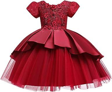 Luckygirls Elegante Petite Fille Robe Princesse Robes De Fete D Anniversaire Enfants Filles Carnaval Robes Casual Danse Sans Manches Robe Amazon Fr Vetements Et Accessoires