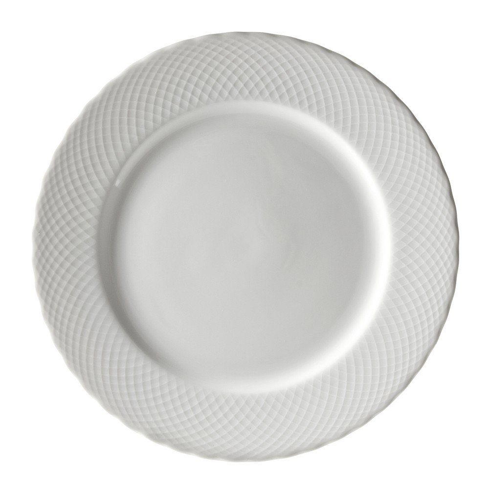 10 Strawberry Street White Wicker 12'' Charger Plate, Set of 6, White