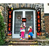 Halloween Decorations Door Banners for Trick or Treat Home Office Décor 3pcs – Ready to Hang