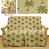Desert Palm Skirted Futon Slipcover Full 5 pc pillow set 622