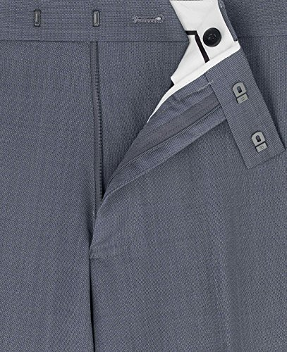 The Savile Row Company Savile Row Men's Blue Grey Tailored Business Dress Pant 34'' 32'' by The Savile Row Company (Image #1)