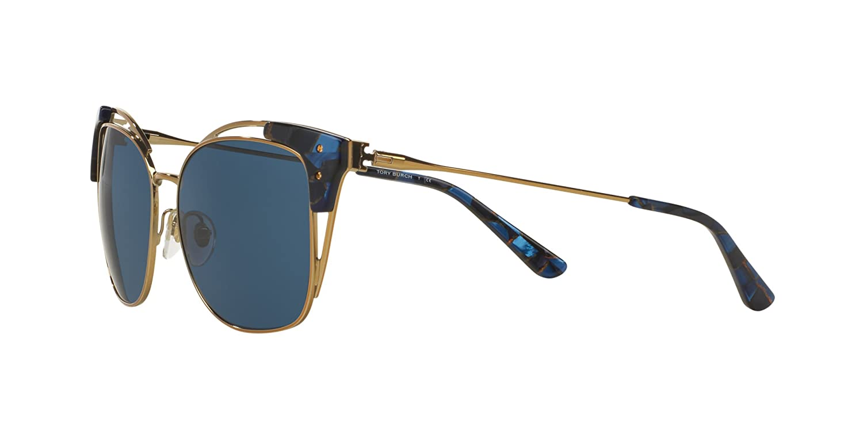 d21fc6a3d4703 Tory Burch TY6049 Sunglasses 315180-56 - Gold blue Mosaic Frame ...