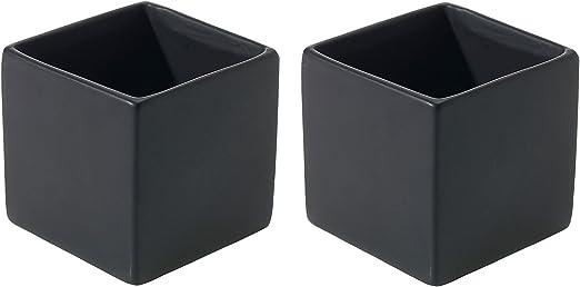 Decorative Square Silver Flower Planter Pot MyGift 4-Inch Mirror-Finish Glass Cube Vase