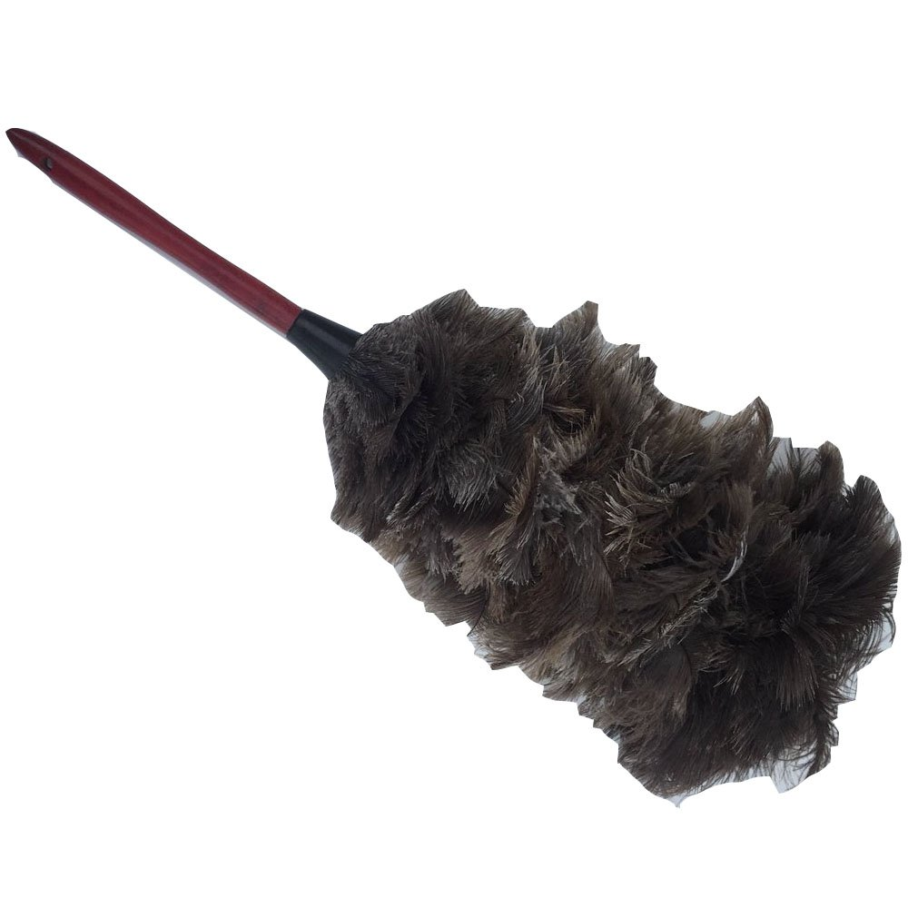 KOLIGHT Handmade Fullness Natural Ostrich Feather Dusters Brush Use for Office Home (23inch)