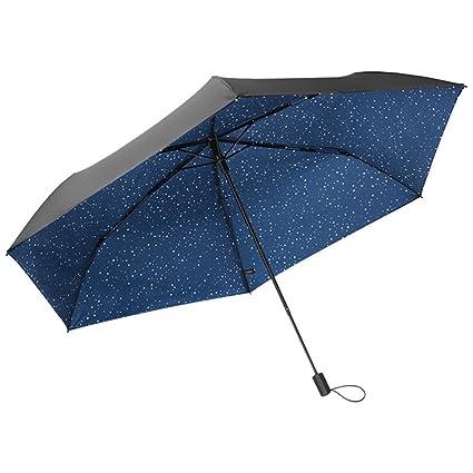 Zxzxzl Sombrilla Paraguas Negro Pequeño Bajo El Paraguas Paraguas Mini Sombrilla Plástica Paraguas Negro Anti-