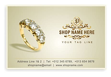 Amazon jewelry theme personalised business cards custom jewelry theme personalised business cards custom professional company visiting card front reheart Gallery