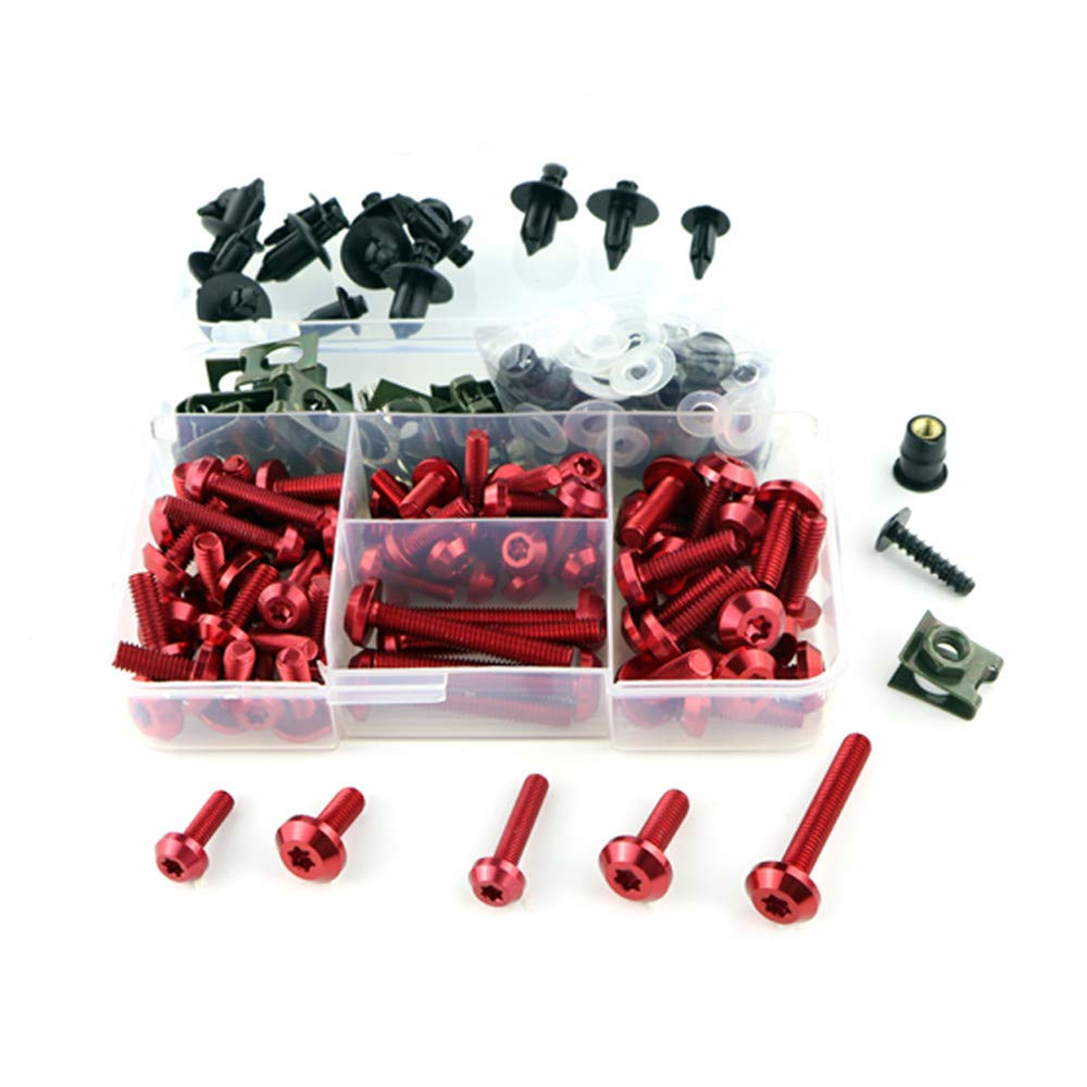 CNC Alloy Motorcycle Complete Fairing Bolt Kit Bodywork Screws Nuts supply directly from the factory (Black)