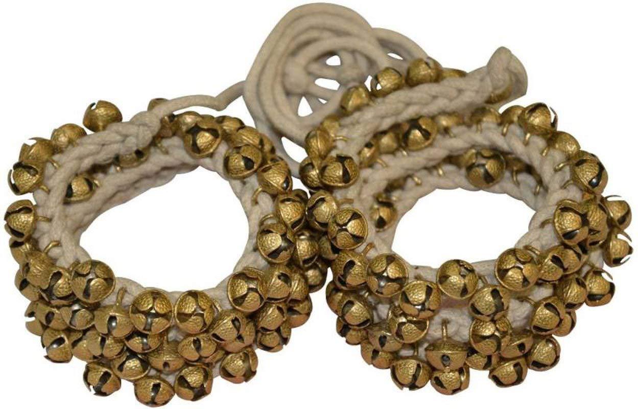 Ghungroo 50-50 Bell Pair 1.6 cm, Kathak Ghungru 50 Bells - Dancing Bells Anklets Ghungroo Kathak anklet women dance accessories