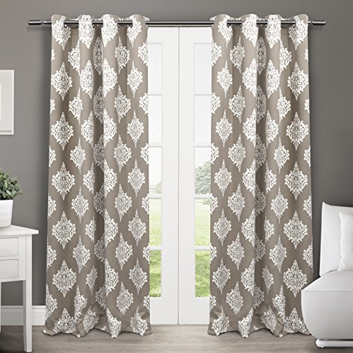 Awesome Exclusive Home Curtains Medallion Thermal Blackout Grommet Top Window  Curtain Panel Pair, Taupe, 52x84