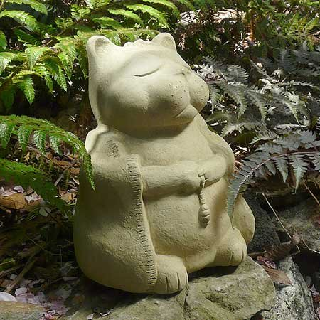 Amazon.com : Meditating Cat   Cast Stone Garden Sculpture, Large Size :  Outdoor Statues : Garden U0026 Outdoor