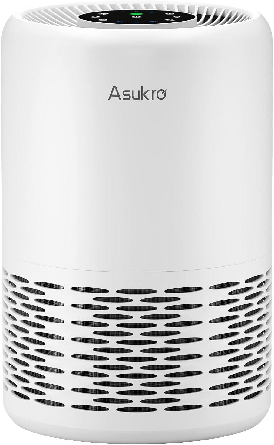 Asukro HEPA Air Purifier for Home Bedroom Allergies, Auto Mode Air Cleaner Filters Dust, Pollen, Smoke, Odors, True H13 Grade
